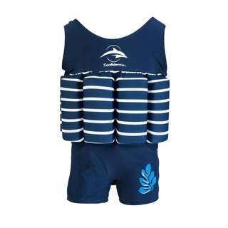 Konfidence Floatsuits for Toddlers - Blue Breton 1-2 years ol