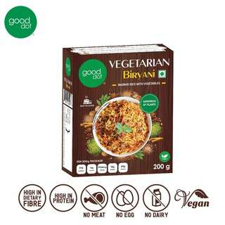 GoodDot Vegetarian Biryani - Ready To Eat Vegan Halal