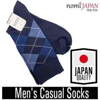 Nomi Japan Blue Men's Diamond Design Causal Socks 25-27cm