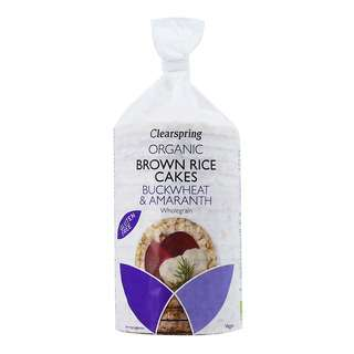 Clearspring Organic Brown Rice Cakes - Buckwheat & Amaranth