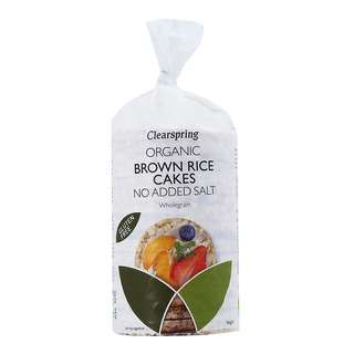 Clearspring Organic Brown Rice Cakes - No Added Salt