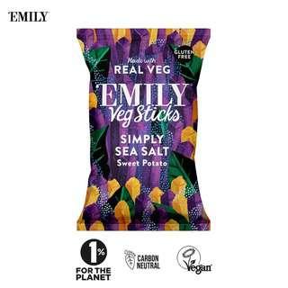 Emily Sea Salt Sweet Potato Sticks Chips - Vegan Gluten Free