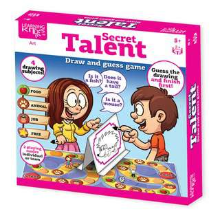 Learning Kitds Secret Talent Guess & Draw Game