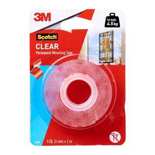 3M Scotch Clear Mounting Tape (21 MM X 2M)