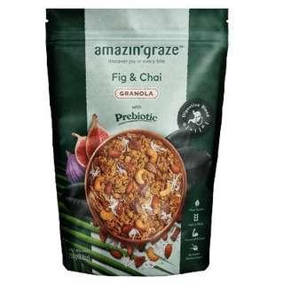 Amazin' Graze Fig and Chai Granola with Prebiotics 250g