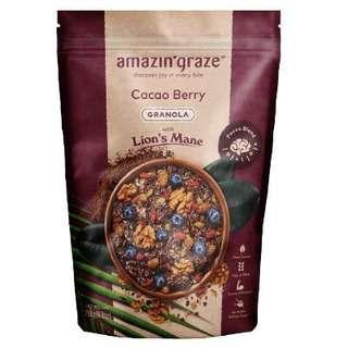 Amazin' Graze Cacao Berry Granola with Lion's Mane 250g