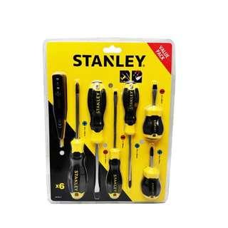 Stanley Cushion Grip Screwdriver 6 Pcs Set W/Bonus Tester