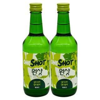 ONE SHOT Green Grape Soju 360ml