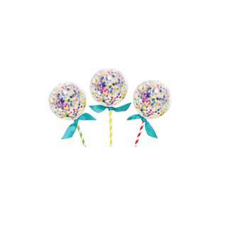 IG Design Group Mini Balloon Party Cake Toppers - Confetti