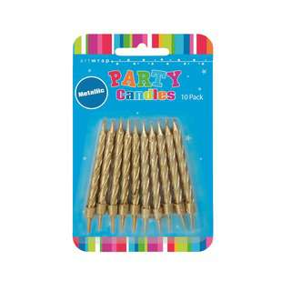 IG Design Group Party Candles - Metallic Gold