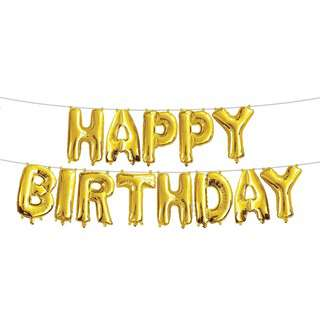 IG Design Group Party Foil Balloon Banner - Happy Birthday