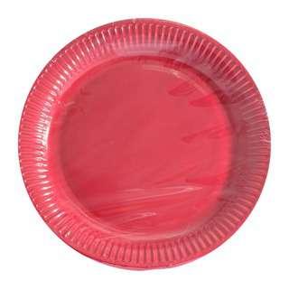 Procos Decorata Red 23cm Paper Plates