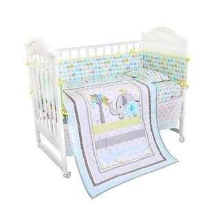 Bonbijou Snug 10Pcs 100% Cotton Bedding Set (Elephant)