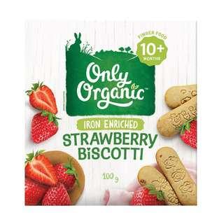 Only Organic STRAWBERRY BISCOTTI