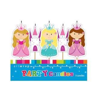 IG Design Group 5 Pick Candles - Princess Castle