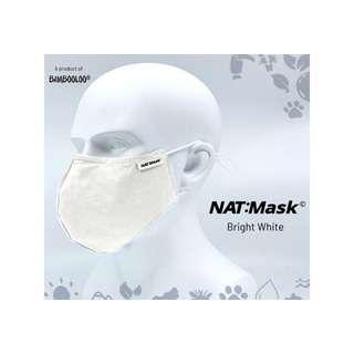 Bambooloo Nat:Mask  Reusable Mask - Bright White (Medium)