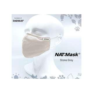 Bambooloo Nat:Mask  Reusable Mask - Stone Grey (Large)