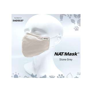 Bambooloo Nat:Mask  Reusable Mask - Stone Grey (Medium)