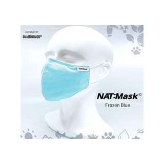 Bambooloo Nat:Mask 3 Layers Reusable Mask-Frozen Blue(Large)