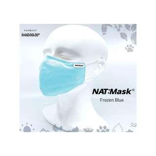 Bambooloo Nat:Mask  Reusable Mask - Frozen Blue (Medium)