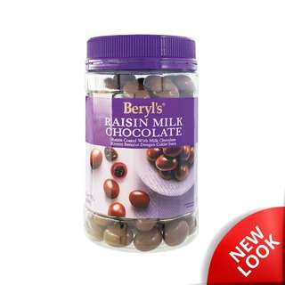 Beryls Jar Raisin Coated With Milk Chocolate
