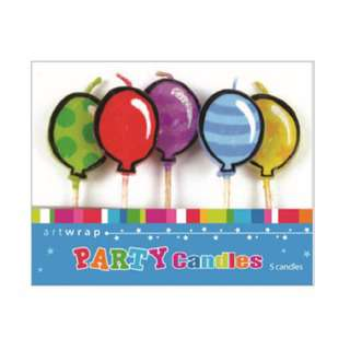 IG Design Group 5 Pick Candles - Bright Balloons