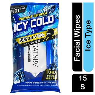 GATSBY ICY COLD INSTANT REFRESH 15 FACIAL Wipes