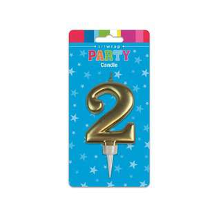IG Design Group Jumbo Party Gold Candle - 2