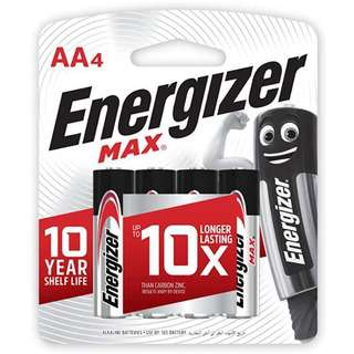 Energizer Alkaline Battery - Max (AA) Pack of 6