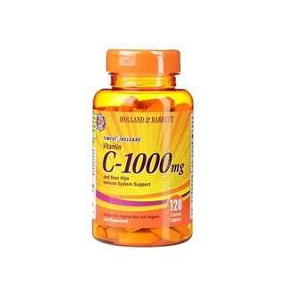 Holland & Barrett Timed Release Vitamin C 120 Caplets 1000mg