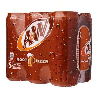 Coca Cola A&W Classic Root Beer 325ml x 6 Cans