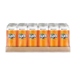 Coca Cola Fanta Zero No Sugar Orange Soda