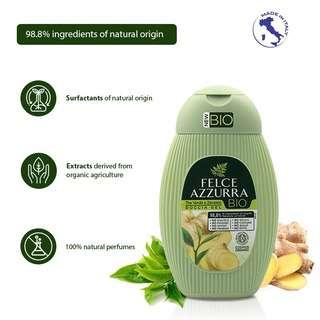 Felce Azzurra Bio Shower Gel - Green Tea & Ginger