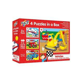 Galt 4 Puzzles in a Box (Vehicles)