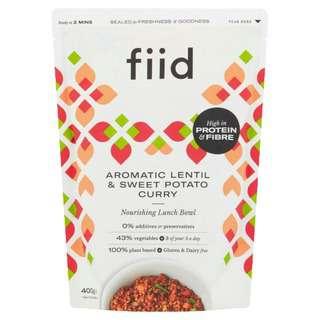 FIID Aromatic Lentil & Sweet Potato Curry - Vegan