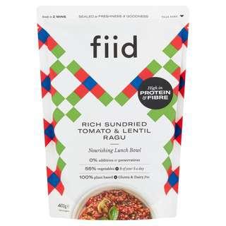 FIID Rich Sundried Tomato & Lentil Ragu - Vegan