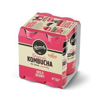 Remedy Kombucha Multipack Wild Berry 4x250ML