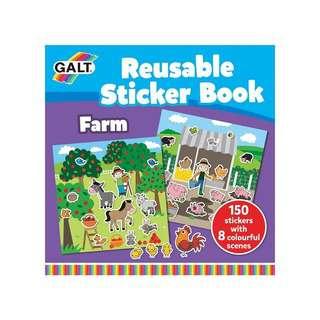 Galt Reusable Sticker Books (Farm)