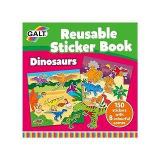Galt Reusable Sticker Books (Dinosaurs)