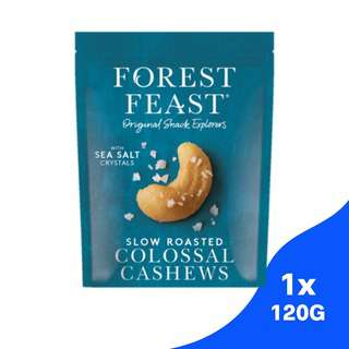 Forest Feast Slow Roasted Colossal Cashews with Sea Salt