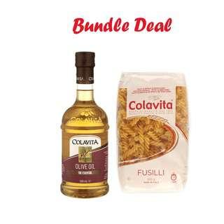 Colavita Classic Olive Oil with Pasta 500g (Bundle Pack)