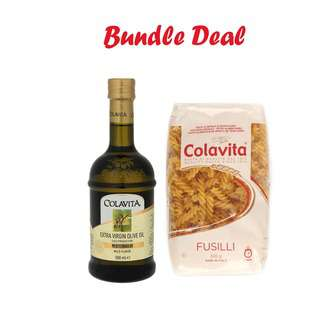 Colavita Extra Virgin Olive Oil with Pasta 500g (Bundle Pack)