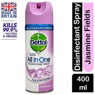 Dettol JASMINE FIELDS HYGIENE All-in1 Disinfectant Spray