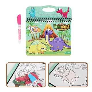 Querios Toys Water Doodle Book - Dinosaur