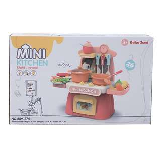 Querios Toys Mini Kitchen Set - 26 accessories