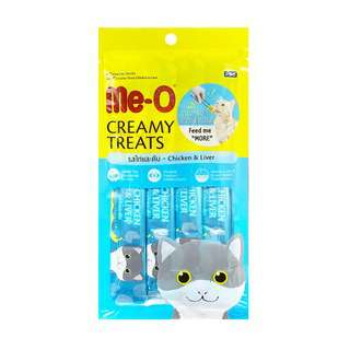 Me-O Chicken & Liver Flavor Cat Creamy Treats