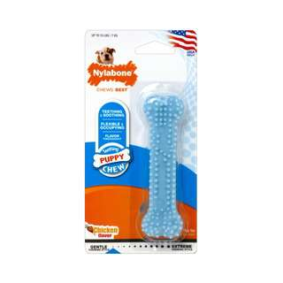 Nylabone Puppy Teething & Soothing Chew Toy Blue Petite