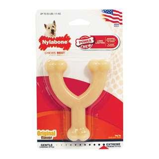 Nylabone Power Chew Long-Lasting Wishbone Dog Chew Toy Regula