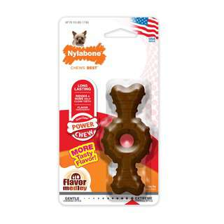 Nylabone Power Chew Durable Ring Bone Dog Chew Toy Petite