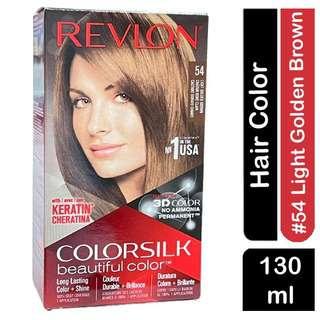 Revlon Colorsilk 3D HairColor 54 LIGHT GOLDEN BROWN NO AMMONI
